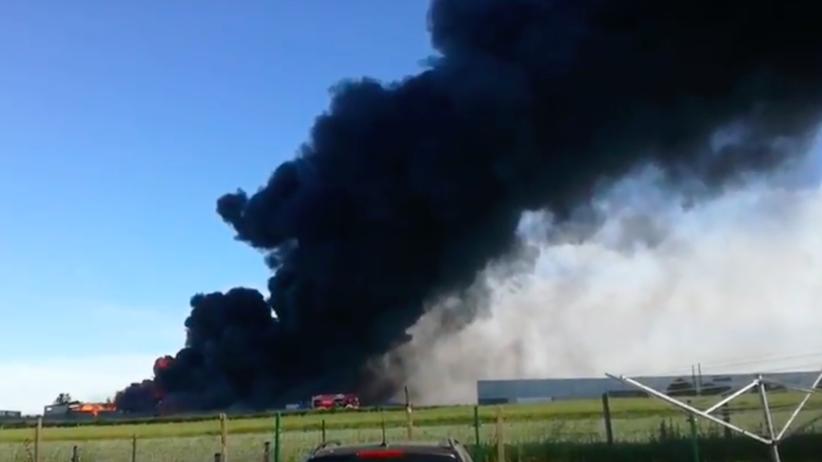 Piekary Śląskie: Pożar w składowisku makulatury [FOTO]