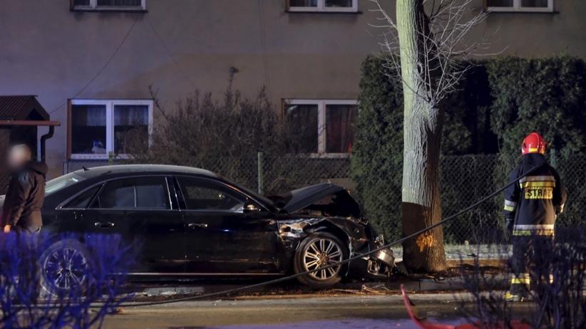 Miejsce wypadku samochodowej kolumny rządowej z udziałem premier Beaty Szydło