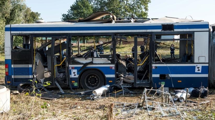 Detonacja ładunku w autobusie