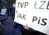 Policja: nie udostępniliśmy nikomu wizerunków osób protestujących przed TVP