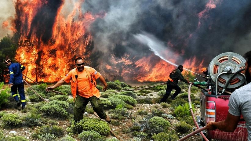 Polscy turyści wrócili do Katowic z walczącej z pożarami Grecji