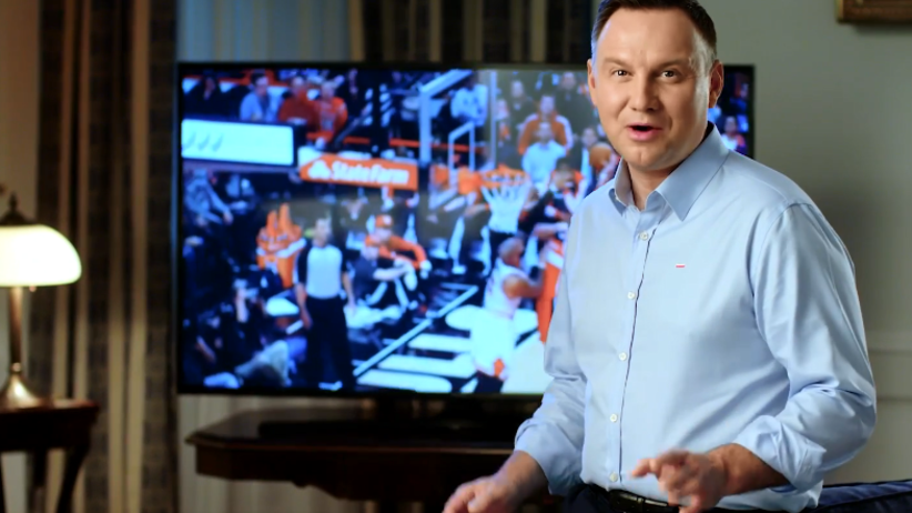 ''Polska Noc'' w NBA. Prezydent opublikował specjalne nagranie [WIDEO]