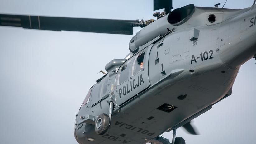 Porwanie w Białymstoku. Przy poszukiwaniach wykorzystano helikopter Black Hawk