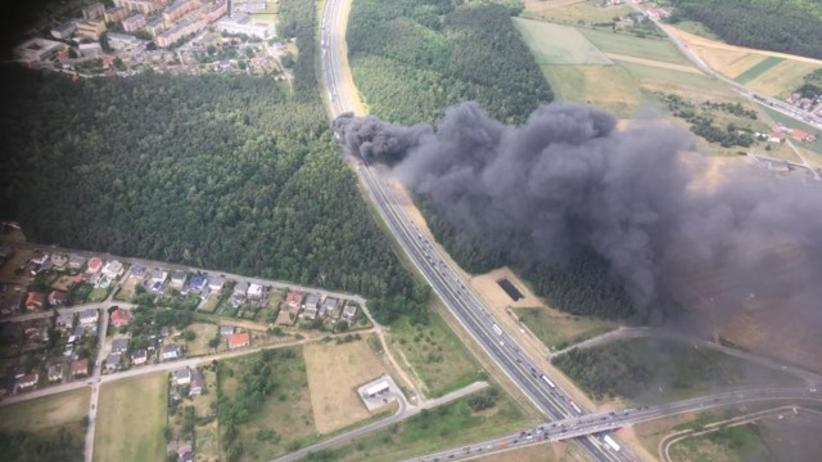 Pożar na A4
