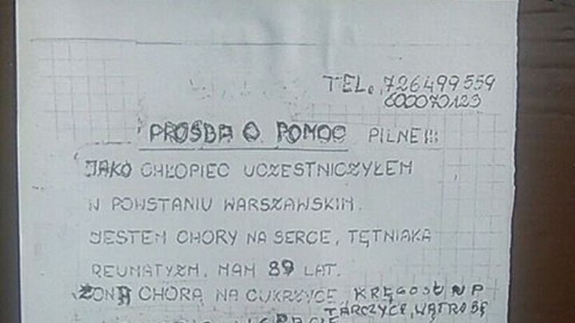 Powstaniec Warszawski Zdzisław Pietrzykowski jest chory. Prosi o pomoc