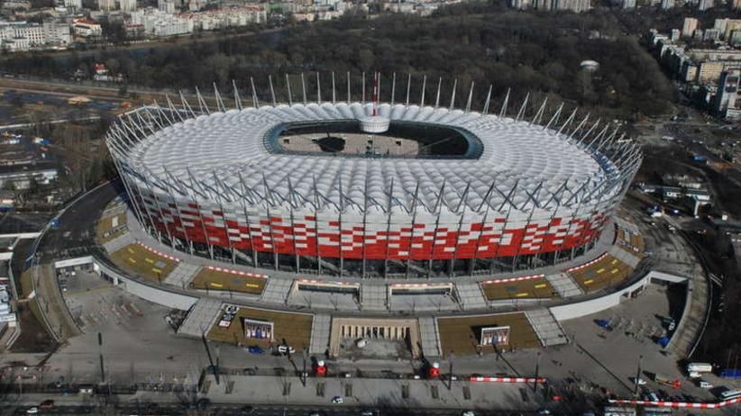 Nocny pożar na Stadionie Narodowym