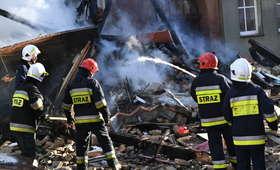 Pożar kamienicy, kilka osób rannych. Trwa akcja ratownicza