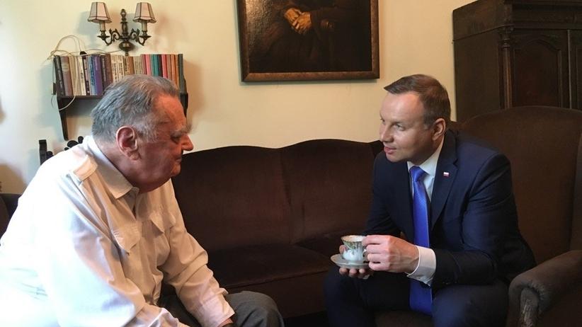 Prezydent Duda odwiedził Jana Olszewskiego