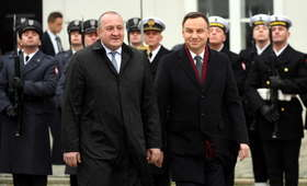 Spotkanie Andrzeja Dudy z prezydentem Gruzji