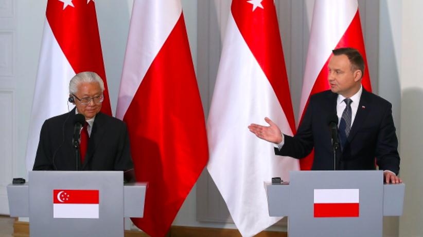 Prezydent Singapuru odwiedził Warszawę. Rozmawiał z Andrzejem Dudą o współpracy
