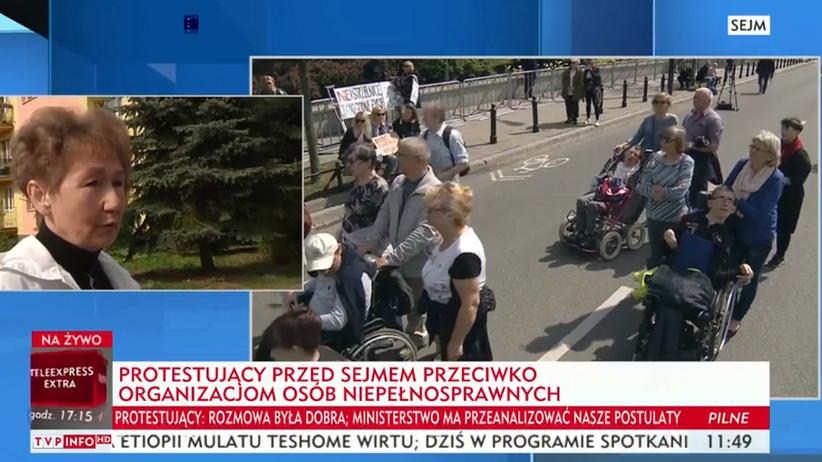 """TVP Info o proteście przed Sejmem: """"przeciwko organizacjom osób niepełnosprawnych"""""""