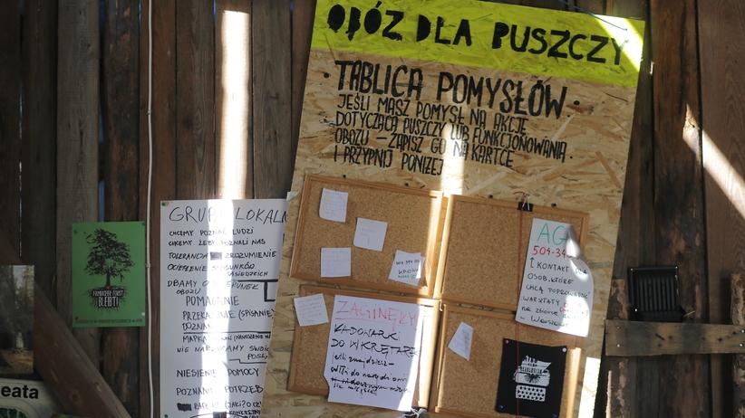 Puszcza Białowieska. Do obozu aktywistów weszli policjanci w kominiarkach