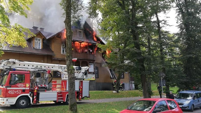 Rabka. Pożar drewnianego domu, trzech rannych