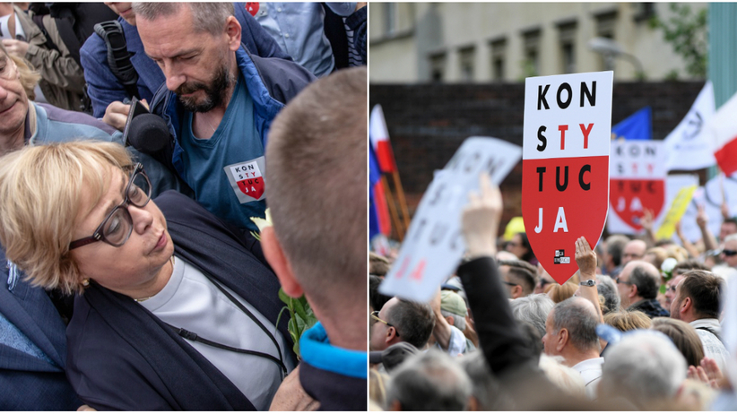 Sąd Najwyższy. Protesty i oczekiwanie na prof. Małgrzatę Gersdorf