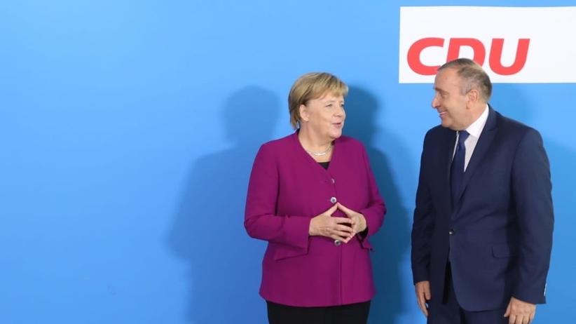 Schetyna po rozmowach z Merkel: Nie spotkałem się za niczyimi plecami