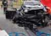 Śmiertelny wypadek na DW 934. Osobówka wjechała pod rozpędzonego tira [ZDJĘCIA]
