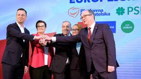 Sondaż do PE. Koalicja Europejska wygrywa z PiS. Na trzecim miejscu Wiosna