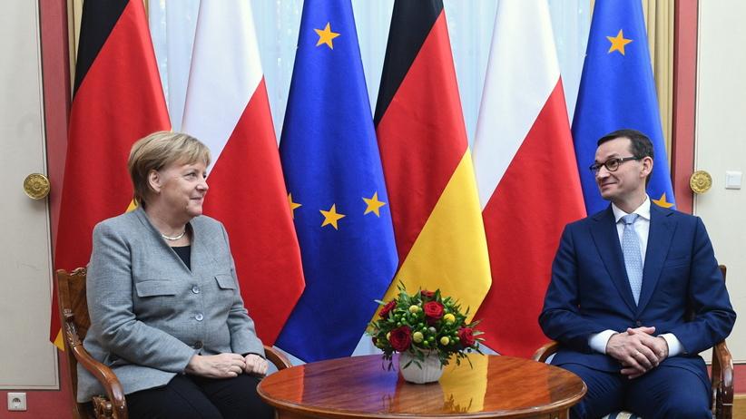 Rozpoczęło się spotkanie Morawieckiego i Merkel
