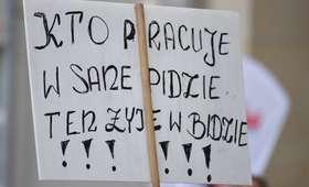Strajk pracownikó sanepidu