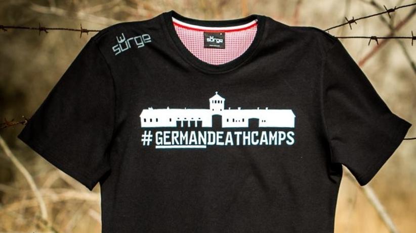 Patriotyczna firma wprowadziła koszulki z niemieckimi obozami śmierci. Na nadruku Auschwitz