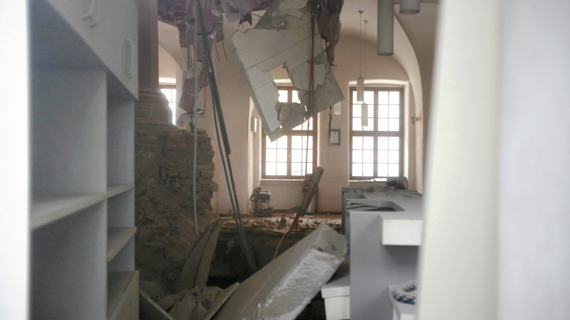 Zawalił się strop w Zamku Książąt Pomorskich w Szczecinie. Sprawę bada prokuratura