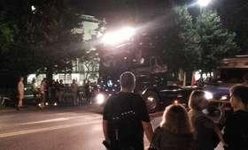 Tir wjechał między protestujących przed Sejmem