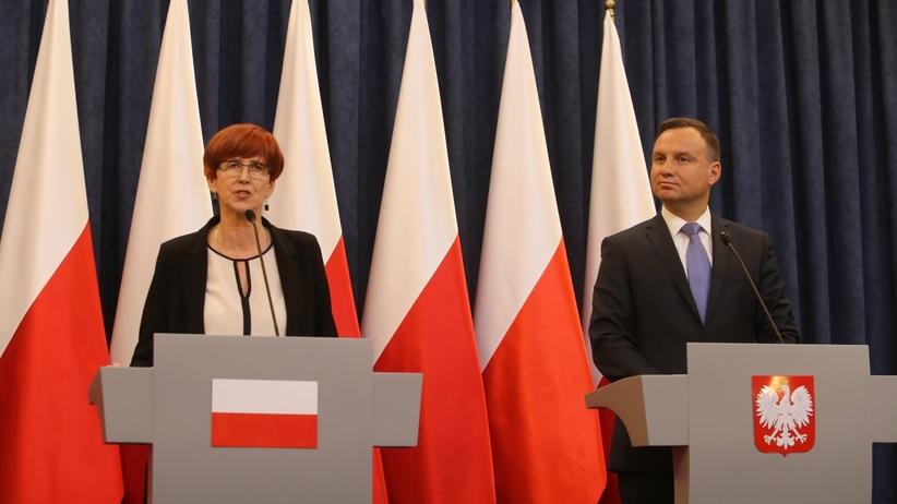 Elżbieta Rafalska i Andrzej Duda