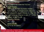 TVP Info publikuje podsłuchaną rozmowę Sikorskiego z byłym prezesem PKN Orlen