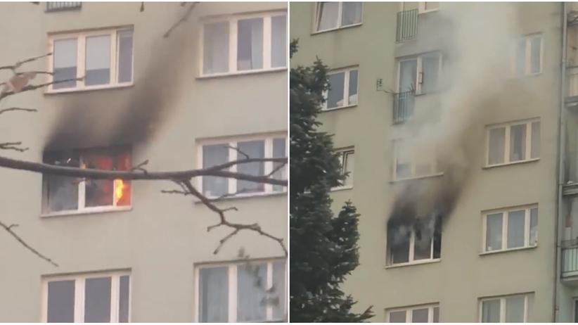 Warszawa. Blok w 10-piętrowym bloku. Jedna osoba nie żyje
