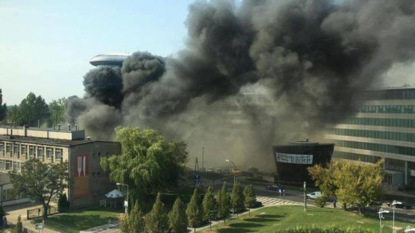 Warszawa. Pożar w Mordorze. Spłonął bar wietnamski