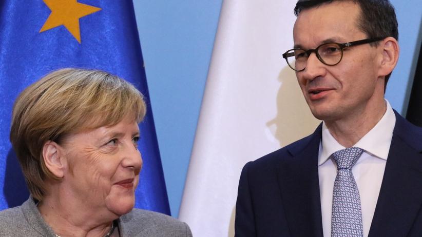 Warszawa. Wizyta Angeli Merkel w Polsce. Spotkanie z Mateuszem Morawieckim