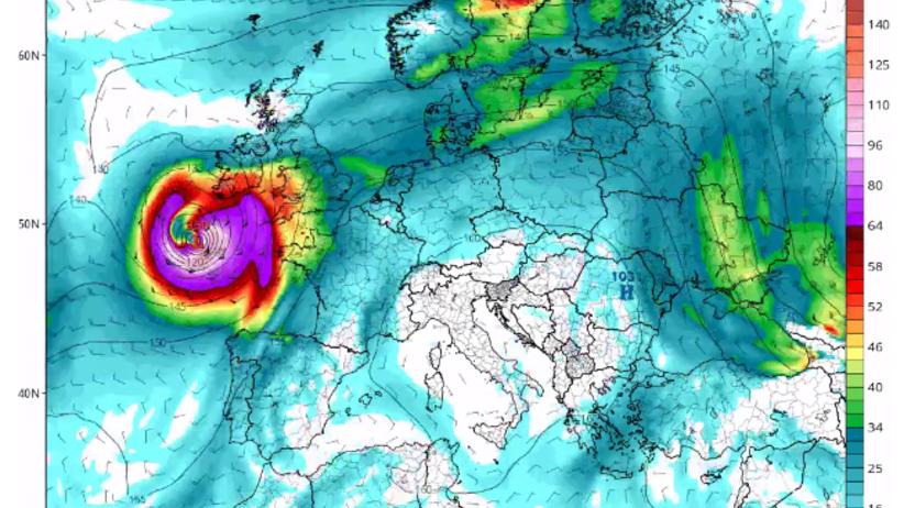 Nad Europę nadciąga potężny huragan. Czy zagraża Polsce?