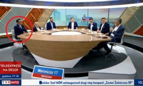 Gość TVP Info z serduszkiem WOŚP. Tym razem nie zniknęło [ZDJĘCIE]