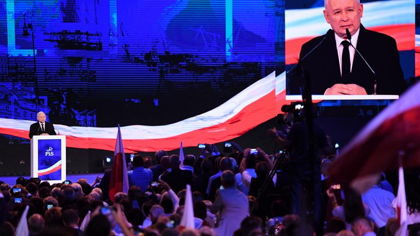 Wybory samorządowe. Kowencja PiS. Przemówienie Jarosława Kaczyńskiego
