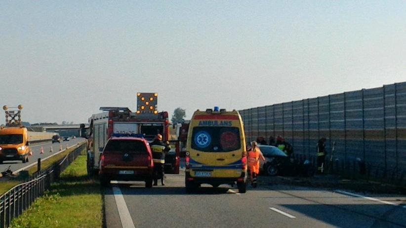 Poważny wypadek na A1 w stronę Gdańska [WIDEO]