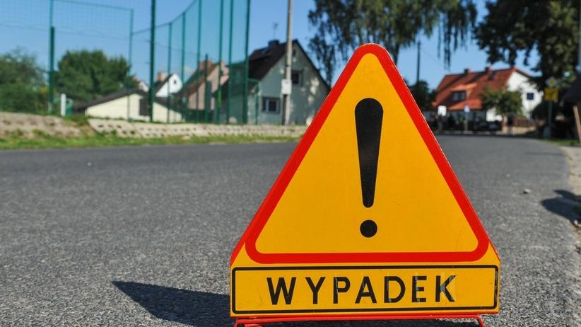 Znak wypadku drogowego