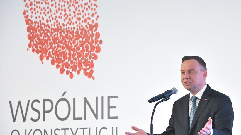 """Andrzej Duda o zmianach w konstytucji: """"Zapraszam do debaty"""""""