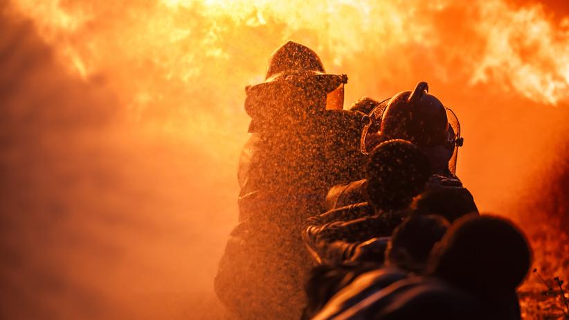Wybuch butli z gazem, pięciu strażaków rannych