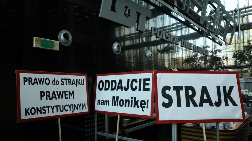 LOT zwalnia strajkujących pracowników!