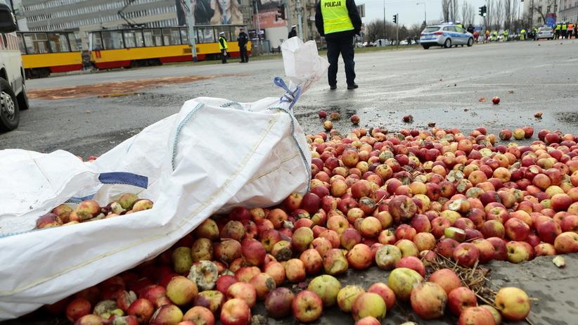 Protest rolników w Warszawie. Zatrzymano kilka osób, są zarzuty