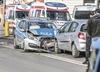 Radiowóz zderzył się z osobówką. Pięć osób w szpitalu [ZDJĘCIA]