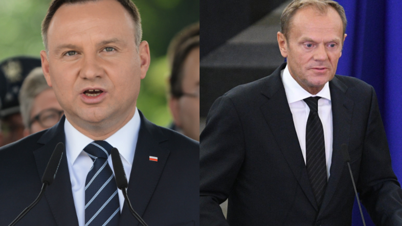 Andrzej Duda spotkał się z Tuskiem. Ich spojrzenia mówią wszystko [FOTO]