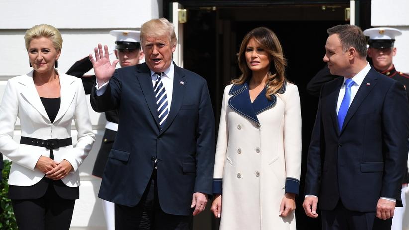 Andrzej Duda w Białym Domu. Rozpoczęło się spotkanie z Donaldem Trumpem