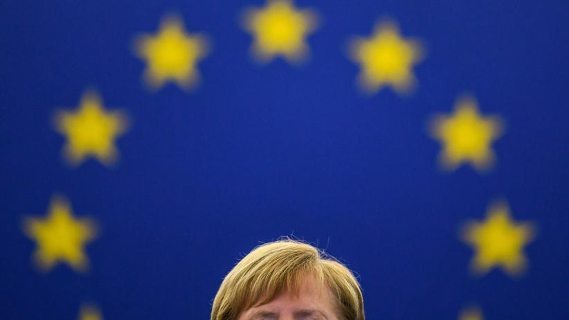 Angela Merkel, kanclerz Niemiec, o przyszłości Europy w Strasburgu