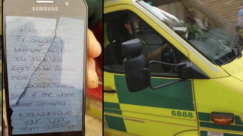 26-latka aresztowana za obraźliwy liścik napisany ratownikom z karetki