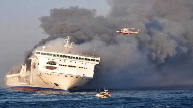 płonie prom na Bałtyku