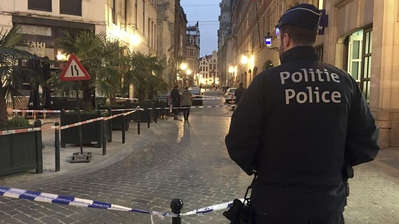 Atak nożownika w Brukseli! Ranny policjant