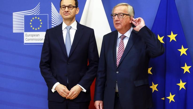 O lepsze relacje Warszawa-Bruksela. Morawiecki spotkał się z Junckerem