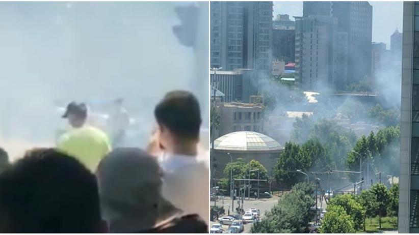 Chiny. Eksplozja przed ambasadą USA w Pekinie