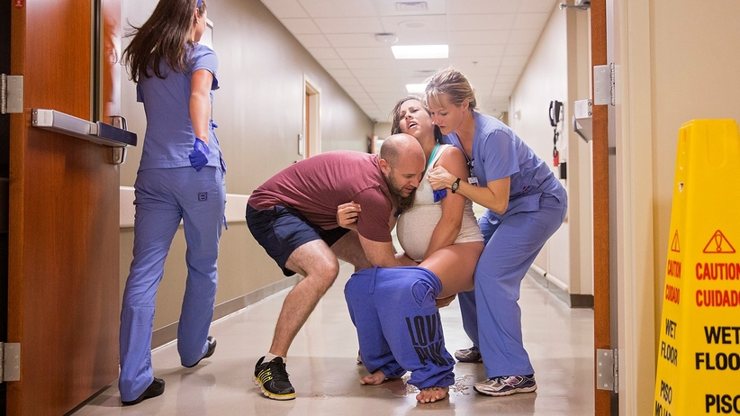Ciężarna nie zdążyła na oddział i poród odbył się na korytarzu